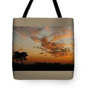 Sunset Over Blueberry Field Tote Bag
