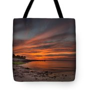 Sunset Over Buzzards Bay Tote Bag