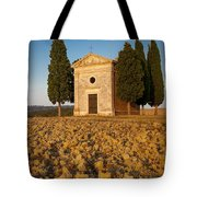 Sunset Over Cappella Di Vitaleta Tote Bag