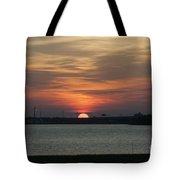 Sunset Over Charleston Harbor Tote Bag