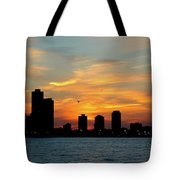Sunset Over Chicago 0349 Tote Bag