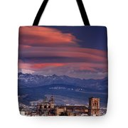 Sunset Over Granada And The Cathedral Tote Bag