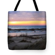 Sunset Over Ice Tote Bag
