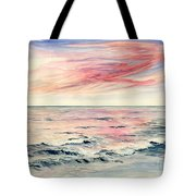 Sunset Over Indian Ocean Tote Bag