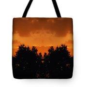 Sunset Over Jackson Michigan Mirror Image Tote Bag