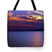 Sunset Over Korcula Tote Bag