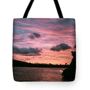 Sunset Over Lake Bailey Tote Bag