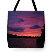 Sunset Over Lake Bailey Tote Bag