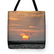 Sunset Over Lake Como Tote Bag