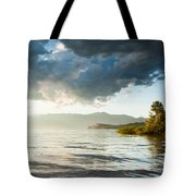 Sunset Over Lake Maggiore In Italy Tote Bag