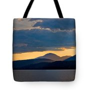 Sunset Over Lake Pend Oreille Tote Bag