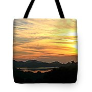 Sunset Over Lake Wohlford Tote Bag