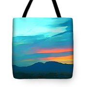 Sunset Over Las Vegas Hills Tote Bag