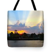 Sunset Over Mauricetown  Tote Bag