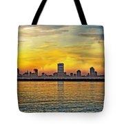 Sunset Over Milwaukee Tote Bag