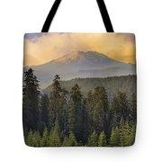 Sunset Over Mount St Helens Tote Bag