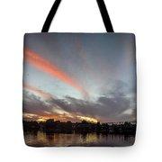 Dusk Over New Hope Tote Bag