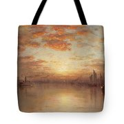 Sunset Over New York Bay Tote Bag