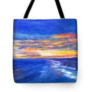 Sunset Over Point Lonsdale As Viewed From Cape Schanck  Tote Bag