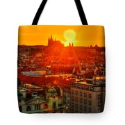 Sunset Over Prague Tote Bag