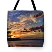 Sunset Over Rethymno Crete Tote Bag