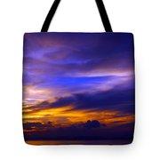 Sunset Over Sea Tote Bag