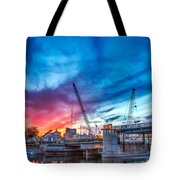 Sunset Over St. Paul Tote Bag