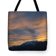 Sunset Over The Alps Tote Bag