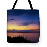 Sunset Over The Causeway Tote Bag