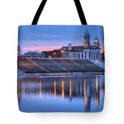 Sunset Over The Clinton County Courthouse Tote Bag