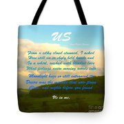 Sunset Over The Dales With Poem Tote Bag