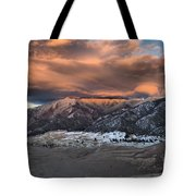 Sunset Over The Dunes Tote Bag