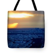 Sunset Over The Eiffel Tower Tote Bag