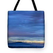 Sunset Over The European Alps Tote Bag