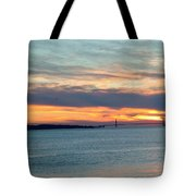 Sunset Over The Golden Gate Tote Bag