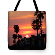 Sunset Over The Homes Of Newport Beach Tote Bag