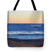 Sunset Over The Ice Tote Bag