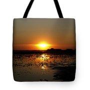 Sunset Over The Lake 3 Tote Bag