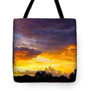Sunset Over The Mc Dowell Mountains Tote Bag