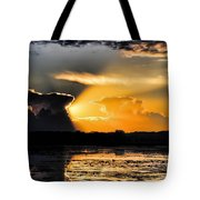 Sunset Over The Mead Wildlife Area Tote Bag by Dale Kauzlaric
