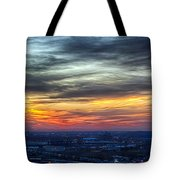 Sunset Over The Metro Tote Bag