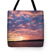 Sunset Over The Narrows Waterway Tote Bag
