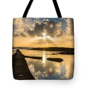 Sunset Over The Ocean I Tote Bag