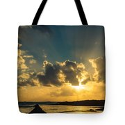 Sunset Over The Ocean Iv Tote Bag