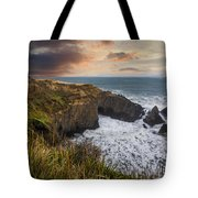 Sunset Over The Oregon Coast Tote Bag