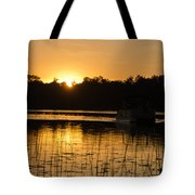 Sunset Over The Pontoon 4 Tote Bag