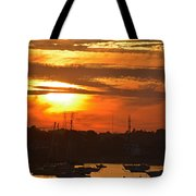 Sunset Over The Salem Willows Tote Bag