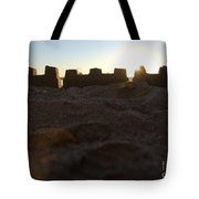 Sunset Over The Sand Castle 4 Tote Bag