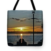Sunset Over The Solent Tote Bag
