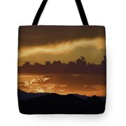 Sunset Over The Tucson Mountains Tote Bag